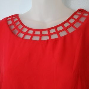 City Triangles Dresses - Red City Triangle Dress